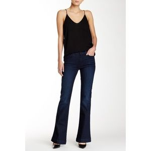 7 For All Mankind Slim Trouser Flare Dark Jeans